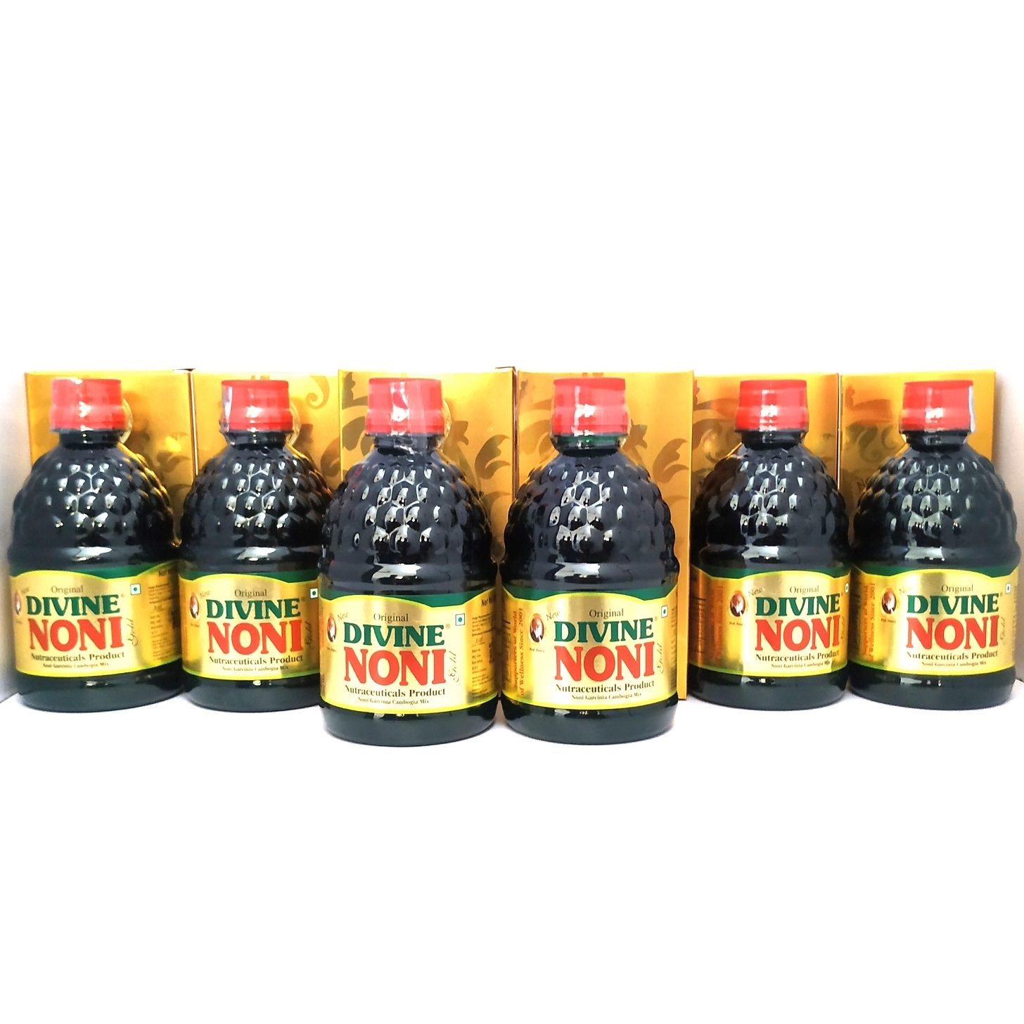 Divine Noni Fruit Juice Concentrate 400 ml, Pack of 6