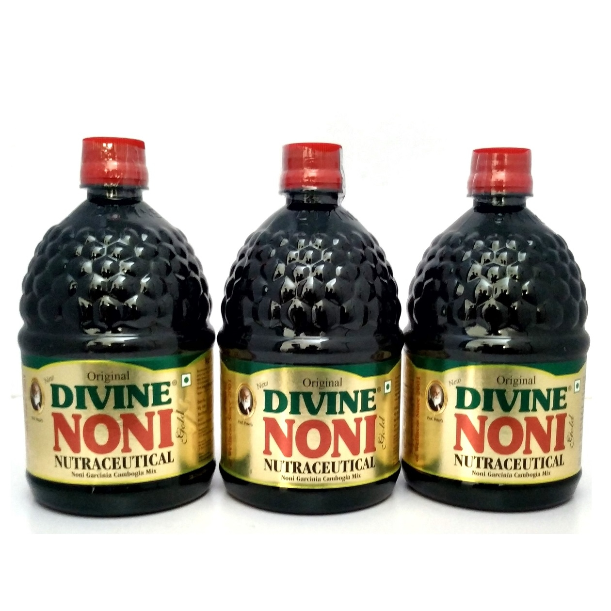 Divine Noni Fruit Juice Concentrate 800 ml, Pack of 3