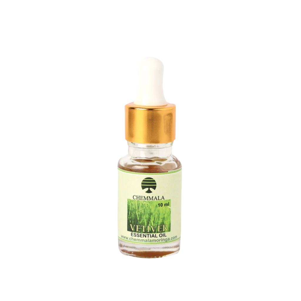 Chemmala Vetiver Essential Oil 10ml, Vetiver Essential Oil For Your Body and Mind