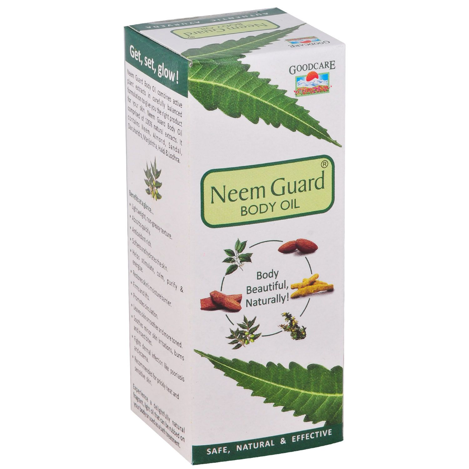 Goodcare Neem Guard Body Oil 100ml, Beautiful Your Body Naturally